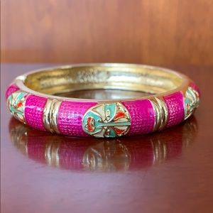 Jewelry - Cloisonné handcrafted enamel hinged cuff bracelet